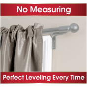 Smart Rods Easy Instal Cafe Curtain Rod, Ball Finial