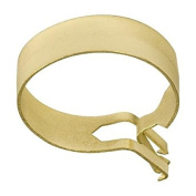 Graber 2.5cm Round Cafe Curtain Clips, Brass - 14 Clips per Package