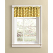 Better Homes and Gardens Gold Chevron Valance, Rod Pocket