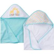 Gerber Newborn Baby Unisex Terry Hooded Bath Towel, 2 Pack