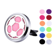 VALYRIA Soccer Aromatherapy Car Essential Oil Diffuser Air Freshener Charm