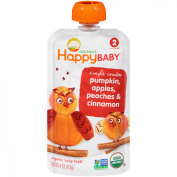 Happy Baby® Simple Combos Pumpkin, Apples, Peaches & Cinnamon Organic Baby Food 120ml Pouch