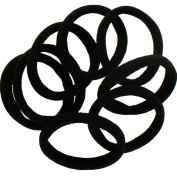 Large Premium Ponytail Hair Bands Black 100pcs