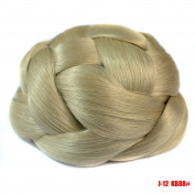 Synthetic Hair Chignon Braided Hair Bun Extensions Clip in Hair Buns Wedding Hair Pieces Bun