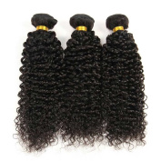Indian Jerry Curl Weave Human Hair Unprocessed Virgin Indian Remy Curly Hair Bundles Extensions Naturl Black Can Be Dyed and Bleached 100g/bundle