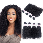 Mongolian Kinky Curly Hair 4 Bundle Deals 100g/pc Mongolian Curly Virgin Hair Natural Colour Unprocessed Human Hair Extensions