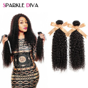 Sparkle Diva 100% Unprocessed 7A Brazilian Deep Curly Virgin Hair Weave 2pcs Natural Colour 100grm (+/-5g)/pcs Can Be Dyed