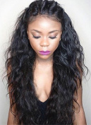 Natural Loose Wave 100% Brazilian Virgin Human Hair Full Lace Wig And Frontal Lace Wig 150% Density 46cm - 70cm For Black Women