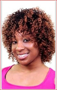 SOULTRESS style RISSI colour 4 Curly Synthetic Hair