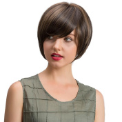 Lucoo Natural Straight Short Hair Fluffy Wigs Short Women's Fashion Wig New