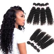 Malaysian Hair Deep Wave Bundles 100 Real Human Hair Weave 4 Bundle Deals Malaysian Virgin Hair Deep curly 100g/pc Natural Colour