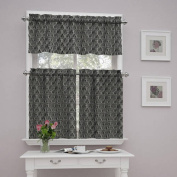 Traditions by Waverly Strands Kitchen Curtains, Set of 2 or Valance
