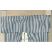 Patch Magic Blue And White Ticking Fabric Curtain Val 140cm X 41cm