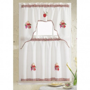 RT Designer's Collection Grand Embroidered Kitchen Curtain