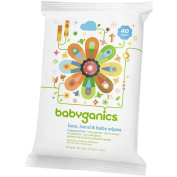 Babyganics Cream Infused Baby Wipes - 40 Count
