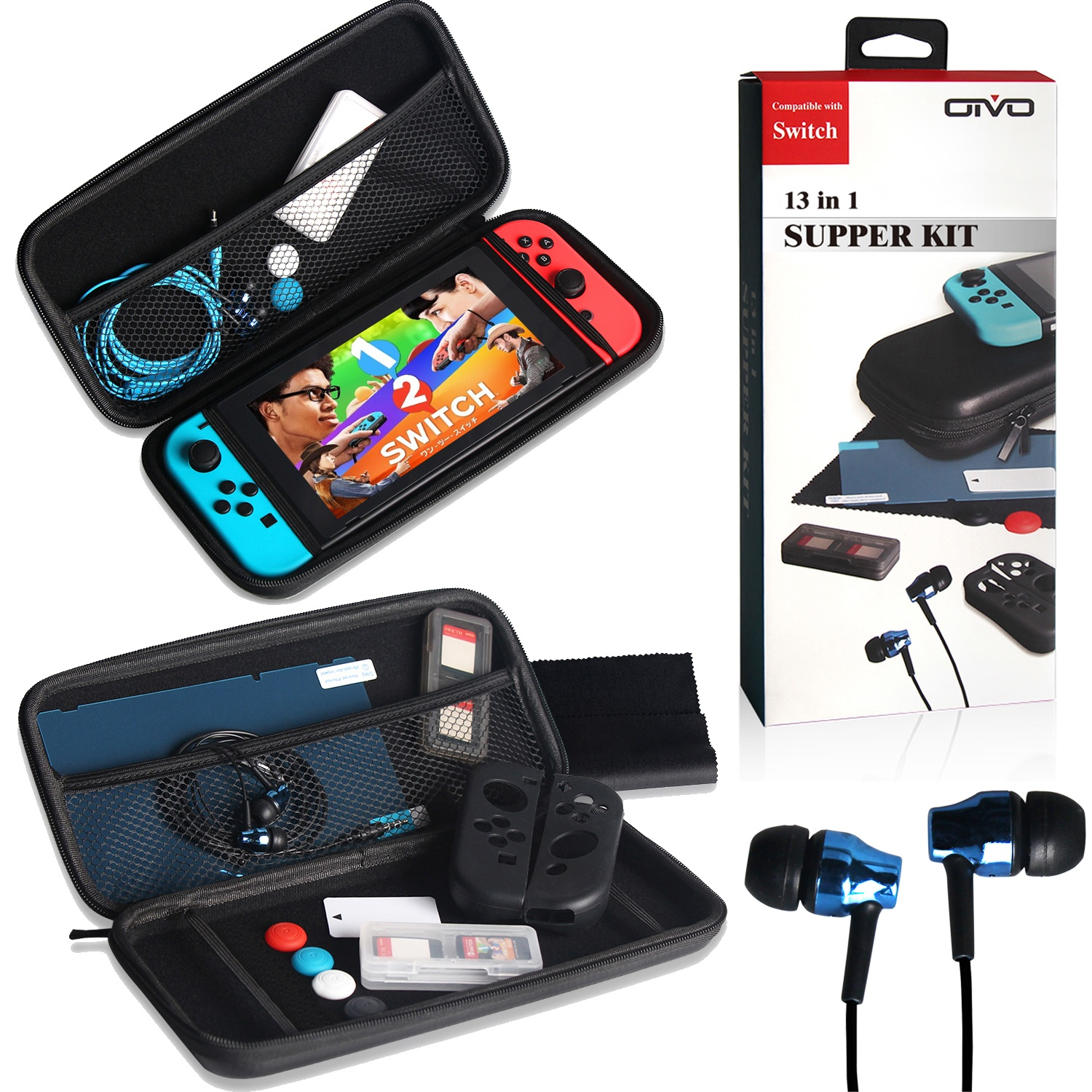 Jetstar Nintendo Switch Portable Travel Carrying Protector Case 13 Screen Official Items Inside Earphone Cartridge Box By Shop Online For