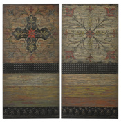 Brichell-Handpainted Spanish Tiles On Wooden Panels