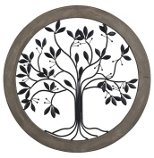 Rossington-Circular Wall Panel With Tree Of Life