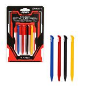 For Nintendo 3DS-XL 6 Stylus Pens Pack KMD BLACK RED BLUE