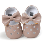 SMYTShop Infant Baby Girls Summer Cute Crib Hollow Out Shoes Bowknot Non-Slip Hook and loop Strap Sandals