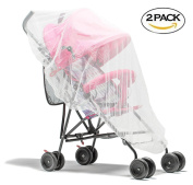 Viihahn Baby Stroller Insect Netting Elastic Full Cover Mosquito Net for Strollers Cribs Carriers Cradles Bassinets and Car Seats