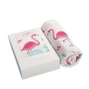 Miss.AJ Muslin Baby Swaddle Blankets , Flamingo Print