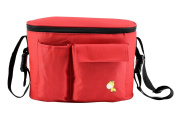 Stroller Organiser Portable Baby Nappy Bag Stroller Travel Carry Bag Adjustable Shoulder Bag for Moms Deer Red