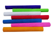 7 Roll Art Decorative Multicolor Crepe Paper DIY Crafts and Gift Wrapping, Project Making and Perfect For Scrapbooking