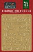 Echo Park Paper Company Embossing Folder-Merry & Bright