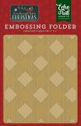 Echo Park Paper Company Embossing Folder-Buffalo Plaid