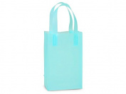 Rose Frosted Plastic Shopping Bags 50 Pcs