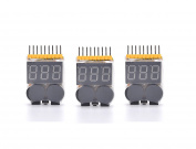 Readytosky 3Pcs Low Voltage Tester Buzzer Alarm 1S-8S with LED Indicator Lipo Battery Checker for RC Helicopter