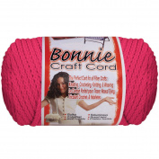 Bonnie Macrame Craft Cord 4mmX100yd-Azalea Pink