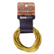 Satin Rattail Braiding Cord 2mm Antiqued Gold 6 Yards - For Kumihimo, Macrame & Knotting