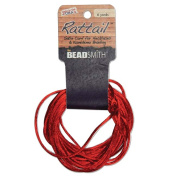 Satin Rattail Braiding Cord 2mm Red 6 Yards - For Kumihimo, Macrame & Knotting