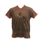 28 Black Men's Love And Hate S/s T-shirt Brown X Large