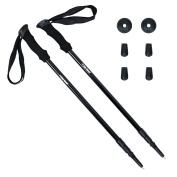 Trekking Poles Star Rover® - Black Colour Walking Sticks - Easy Adjustable