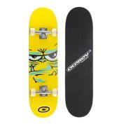Osprey Complete Beginners Double Kick Trick Skateboard, 80cm X 20cm Maple Deck