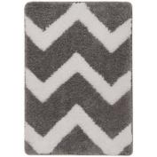 Mainstays True Colour Memory Foam Bath Rug, Grey Flannel