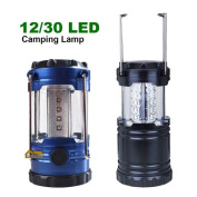 12/ 30 Led Portable Camping Torch Battery Operated Lantern Night Light Tent Lamp