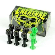 Creature Csfu Black/green Skateboard Bolts 2.5cm Enough For One Board New