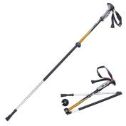 Naturehike 1pc Folding Collapsible Carbon Fibre Trekking Poles, Lightweight Adjustable Aluminium Alpenstock, for Climbing Hiking Travel Backpacking Walking