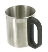 Highlander Insulated Mug - Silver, Large.