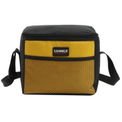 Yvonnelee 5 Litre Tote Insulated Cool Coller Lunch Bags for Men Women Girls and Boys Work and School Small - Yellow