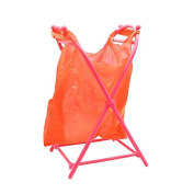 GFEI Foldable garbage rack / plastic bag support rack with tray,Without tray