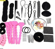Set of 20 Demarkt Donut Bun Maker Fashion Hair Design Styling Kit for Ladies Girls DIY Magic Hair Twist Styling Set