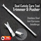 High Grade Stainless Steel Made Cuticle Trimmer & Pusher. Ideal To use At Home Or At Salon. Suits All Type Of Nails. Unisex