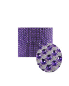 Glittering Faux Diamond Dazzling Faux Rhinestone Mesh Ribbon Wrap for Arts and Crafts Decorations and Cake Decorations, 1 Strip 11cm x 0.9m - Purple