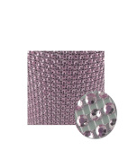 Glittering Faux Diamond Dazzling Faux Rhinestone Mesh Ribbon Wrap for Arts and Crafts Decorations and Cake Decorations, 1 Strip 11cm x 0.9m - Light Pink