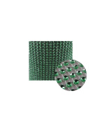 Glittering Faux Diamond Dazzling Faux Rhinestone Mesh Ribbon Wrap for Arts and Crafts Decorations and Cake Decorations, 1 Strip 11cm x 0.9m - Green